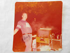 Beer Belly Football Jersey Man BBQ Charcoal Grill Full of Meat Snapshot Photo