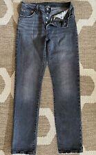 Levi's Men's 28x32 501 BIG E CAPITAL E Jeans Gray Button Up Vintage