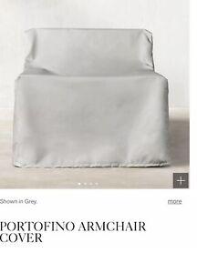 Restoration Hardware Portofino Outdoor Armchair Covers (Set of 4) Grey New