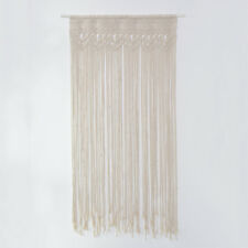 Hand Knitted Cotton Macrame Door Curtain Handcraft Wall Hanging Handmade Art