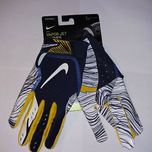Nike Men's NFL Vapor Jet 5.0 Los Angeles Chargers Football Gloves Size Large
