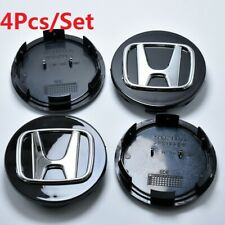 4Pcs For Honda Civic Accord CRV Black 69mm Wheel Emblem Hub Center Cap Badge