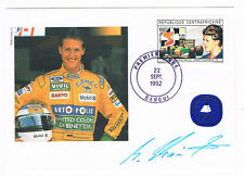 CENTRAAFRICAINE FDC Cover 1992 Schumacher signed  (B7/63)