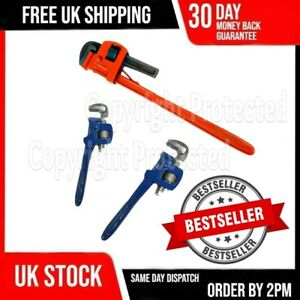 ADJUSTABLE STILSON LARGE HEAVY DUTY PLUMBERS MONKEY PIPE WRENCH SPANNER TOOL