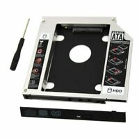 Universal 9.5 mm SATA 2nd SSD HDD Hard Drive Caddy For CD/DVD-ROM Optical Bay
