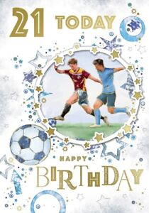 21 Today Happy Birthday Football Card For Age 21 Male