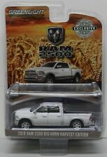 2018 18 WHITE HARVEST ED BIG HORN RAM PICKUP TRUCK DODGE BOYS MOPAR  GREENLIGHT