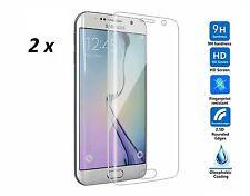 2 x Samsung Galaxy S7 Edge incurvée Trempé Verre Véritable protecteur d'écran couvre