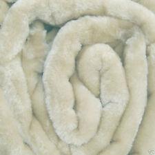 Large Cream Mink Fur Sofa Throw 150 x 200