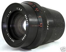 OKC4-75-1 OKC OKS 4 F=75 1:2.8 LOMO USSR Soviet Cine Top Class Lens Rodina RARE!