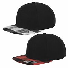 Flexfit Flannel Peak Snapback Cap Check Pattern Umbrella Cap Yupoong Classic Hat