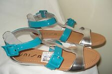 NEW WOMEN'S UNISA GREEN/SILVER SANDALS  SIZE 7 1/2M