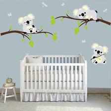 Personalized Koalas Trees Home Wall Decal Sticker Nursery Baby Kid's Room Decor