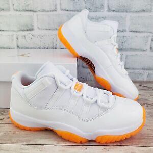 Nike Air Jordan 11 Retro Low XI Citrus White AH7860-139 Womens Size 7