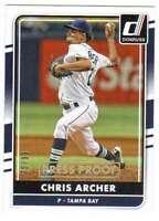 2016 Donruss Baseball Gold Press Proof /99 #152 Chris Archer Rays