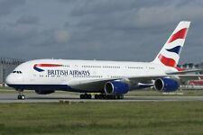 Huge Airbus A380 British Airways desktop model approx 47 cms long nice model