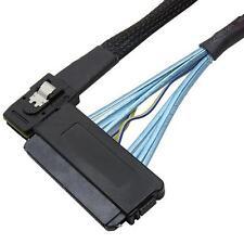 19' Mini SAS 36 SFF 8087 Pin to Mini SAS SFF-8484 Data Cable with Latch Cable