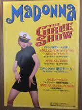 Madonna The Girlie Show Tour 1993 handbill flyer poster Tokyo Japan Rare F/S
