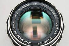 MINOLTA MC ROKKOR-PF 55MM F1.7 LENS FOR FILM SLR SRT 101 303 100 X700 X300 (1)