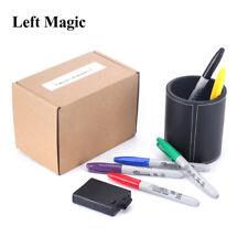 Color Pen Prediction - Leather Pen Holder - Close Up Magic Magic Trick Mentalism