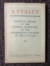 1950 Political Report Commitee 15th Congress CPSU by STALIN VG/FN 144p Communist