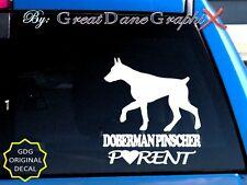 Doberman Pinscher Parent(S) - Vinyl Decal Sticker / Color Choice - High Quality