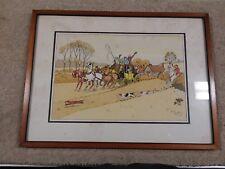 HARRY ELIOTT (Charles Edmond Hermet) Carriage passage / Fox hunt (C6-t)