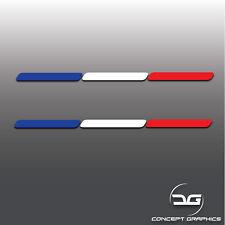 2x French Flag Stripes France Euro Car Dash Window Bumper Vinyl Decal Stickers