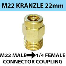 M22 male Screw Thread 22mm KRANZLE type  to 1/4 female Screw Coupling connector