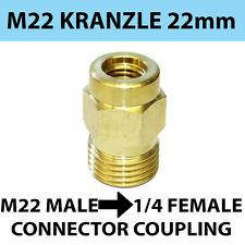 M22 Maschio Filettatura 22 mm Kranzle tipo a 1/4 Connettore di accoppiamento a vite Donna