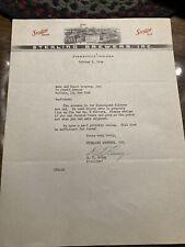 Sterling Beer Evansville Indiana Letterhead 1944 Ephemera