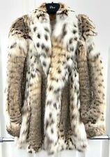 BESPOKE lynx Fur Coat Giacca Fodera in Seta IT42 non zibellino CINCILLA 'Visone Fox