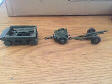 Dinky toy #162 - 18 pounder field gun set composé de 162 A, 162b et 162 C