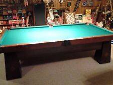 ANTIQUE 9' BRUNSWICK POOL TABLE LATE 1800 BALL RETURN