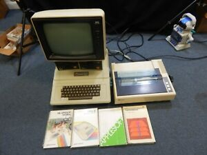 VINTAGE APPLE II PLUS COMPUTER LOT W/ 2 DISK DRIVES, NEC MONITOR & EPSON PRINTER