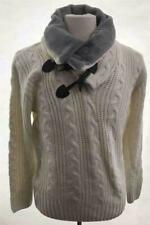 Men's Inserch Turtle Neck High Neck Pullover Cable Knit Off White Sweater