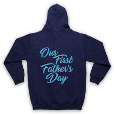 OUR FIRST FATHER'S DAY BABY SON COOL CUTE GIFT ADULTS KIDS HOODIE
