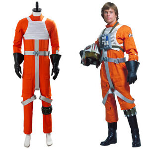 Star Wars X-WING Rebel Pilot Jumpsuit Uniform Cosplay Costume Suit Outfit