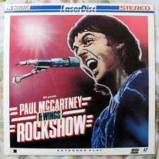 Paul McCartney & Wings Rockshow (1982) Full Screen Used Laserdisc - VG-/G+ As Is