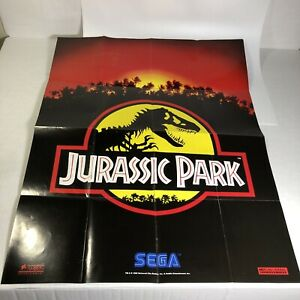 Jurassic Park Sega Genesis Welcome to the Next Level Poster Folded