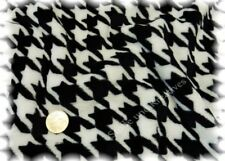 Houndstooth schwarz weiß Kuschelnicky Hilco Fleece Plüsch Hahnentritt 50 cm