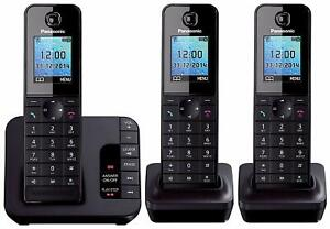 Panasonic KX-TGH223 Trio Cordless Phone Answerphone System with caller ID/call