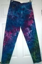 RECYCLED Tie Dye Wrangler 100% Cotton Zipper Fly Jeans 30 x 32 US Made