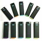 10 Ct MK JET BLACK TORCH  Big Full Size Lighters Refillable Windproof Lighter