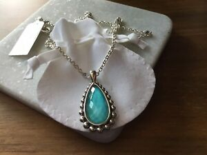 Lagos necklace 925 silver sterling turquoise doublet🎁