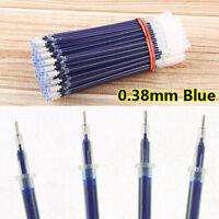 Office New 100pcs Replacement Pen Refills 0.38mm Blue Color Pen Supplies Refill