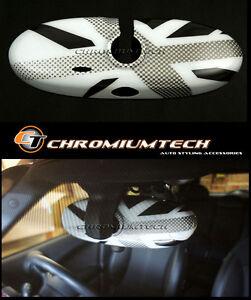 MINI Cooper/S/ONE R55 R56 R57 R60 R61 WHITE Union Jack Rear View MIRROR Cover