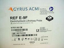 (6) Gyrus ACMI Electrohydraulic Lithotripsy Probe Ref: E-9F, 9Fr. x 60cm 2018-09