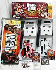 Nintendo Wii/Wii-U Guitar Hero 3 + Aerosmith Bundle 2 GUITARS & 2 GAMES set III