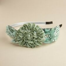 MARIELL'S BEAUTIFUL SIDE DESIGN HAIRBAND IN MINT & CELEDON COUTURE